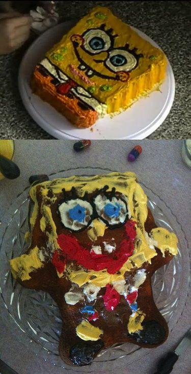 Spongebob cake   nailed it  | FOOD!!! | Pinterest fails