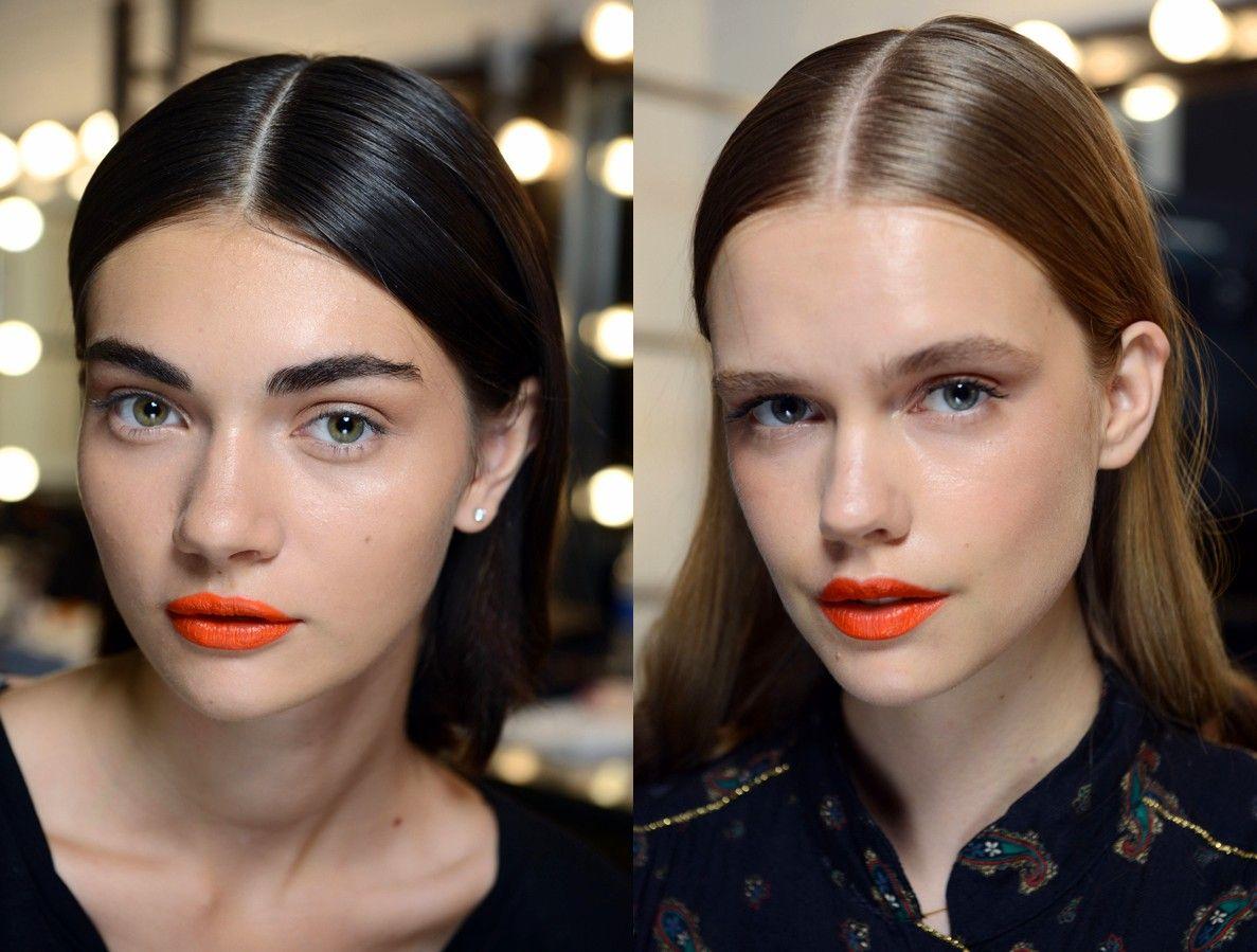 Viva el naranja, incluso para los labios... (Tanya Taylor SS 2015)