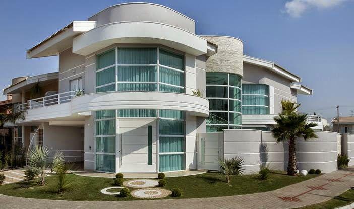 Casas com fachadas redondas em esquinas pesquisa google for Casas modernas redondas