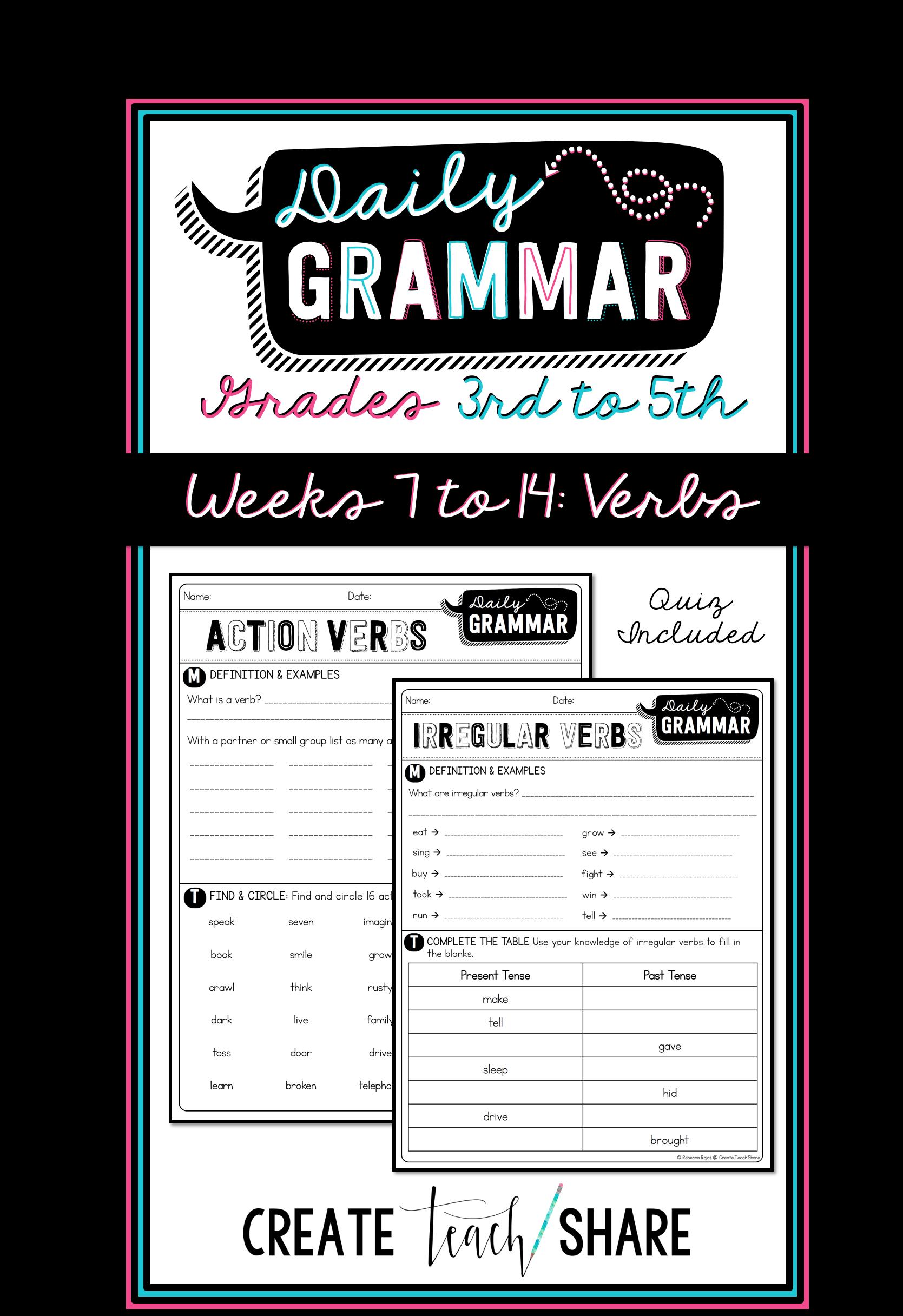 Worksheets Daily Grammar Practice Worksheets worksheets daily grammar practice tokyoobserver just verbs verbs