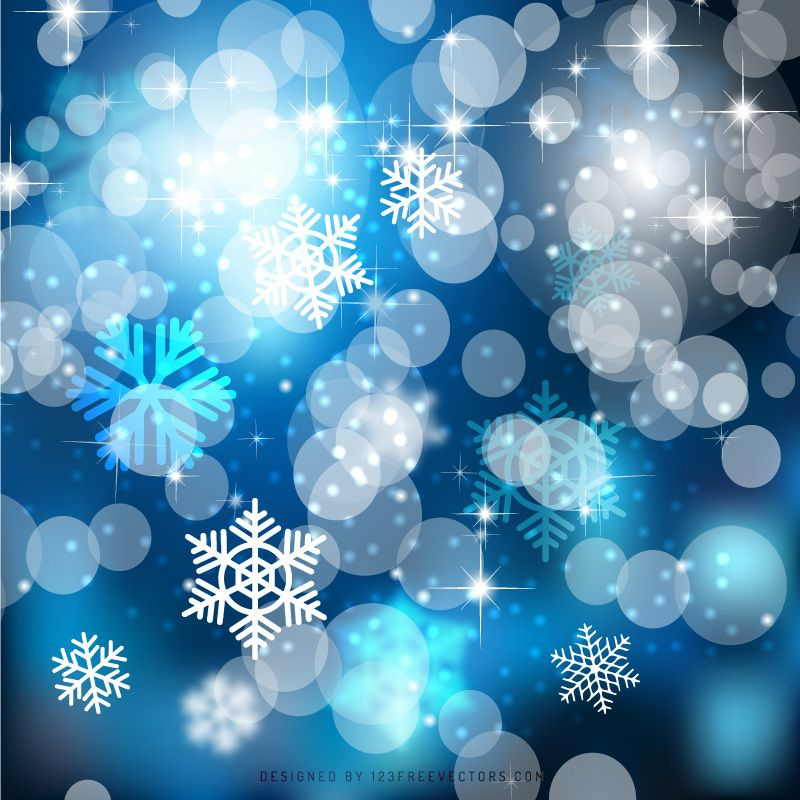 Dark Blue Christmas Bokeh Lights Background Template Christmas