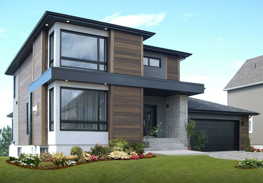 Plan 22322dr Stately Modern With Garage Contemporary House Exterior Contemporary House Plans Contemporary House Design