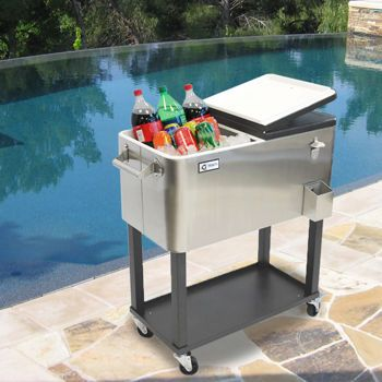 Costco Trinity Stainless Steel Beverage Cooler With Shelf