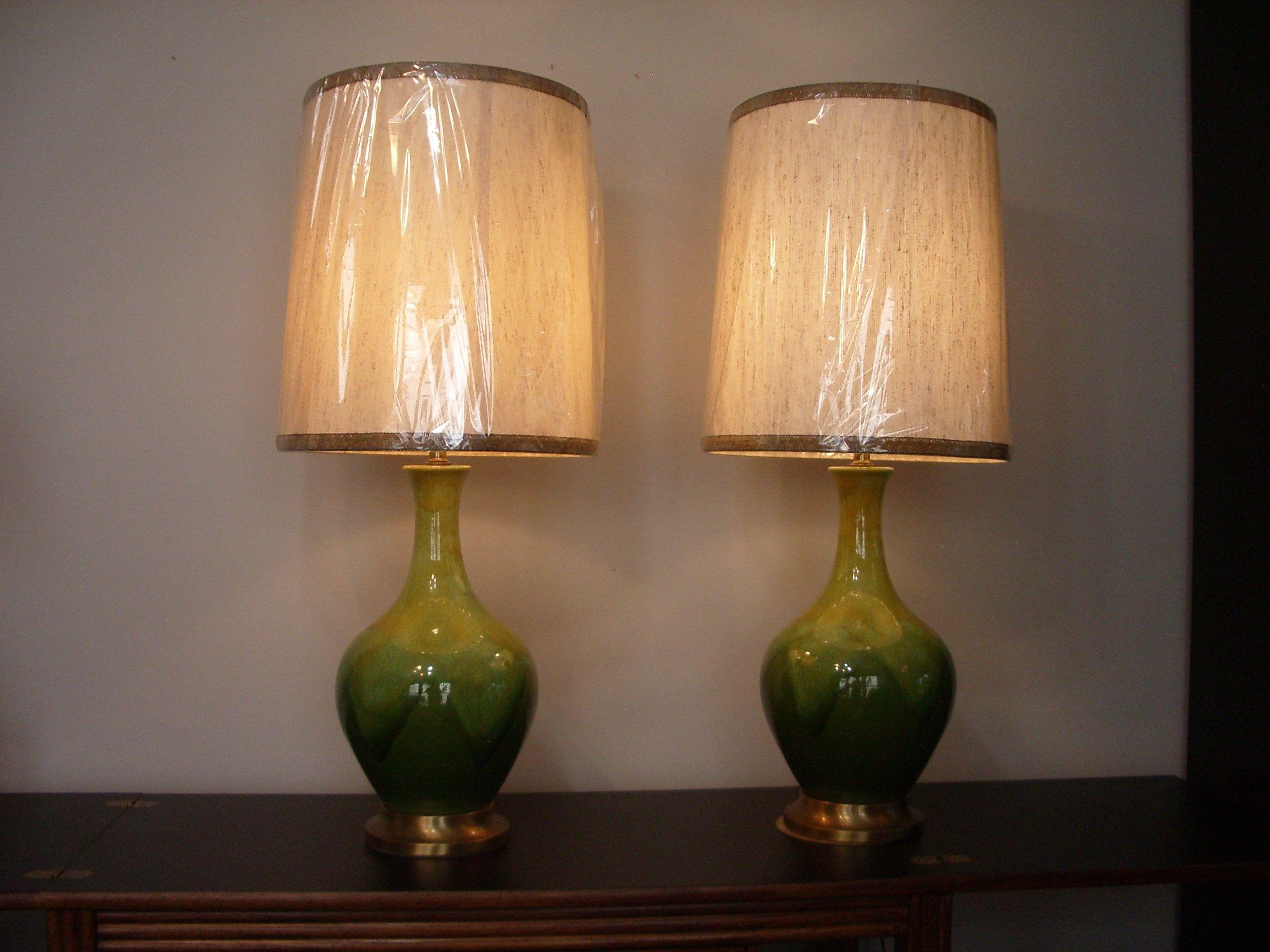976 Haeger Ceramic Lamps Green Drip Glaze Original Shades Royal Hickman Designed Https Etsy Me 2secdwc Midcenturylighting M Lamp Vintage Lamps Ceramic Lamp