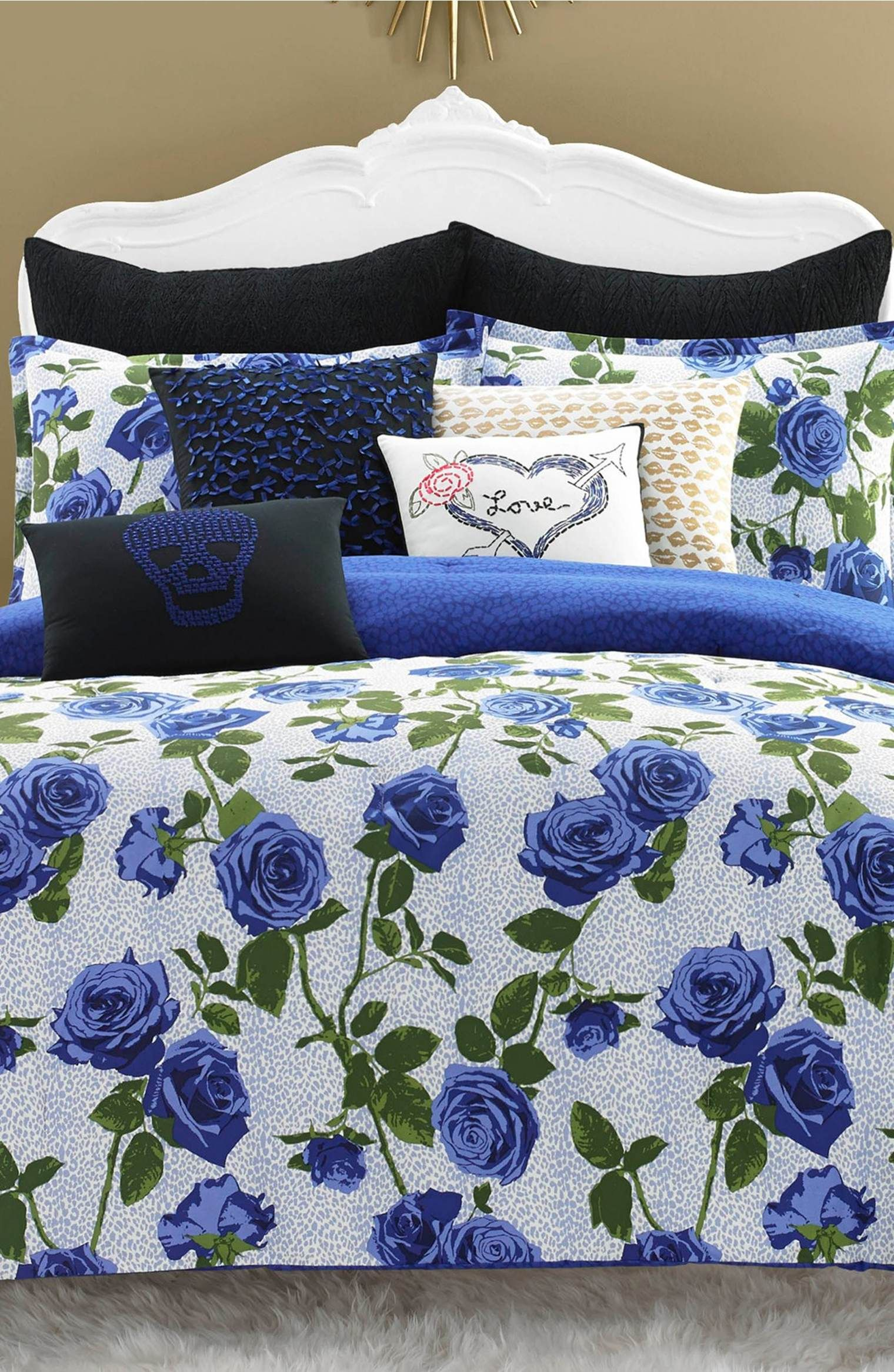 Betsey Johnson Bedding Regal Roses Comforter Sham Set Comforter Sets Rose Comforter Betsey Johnson Bedding