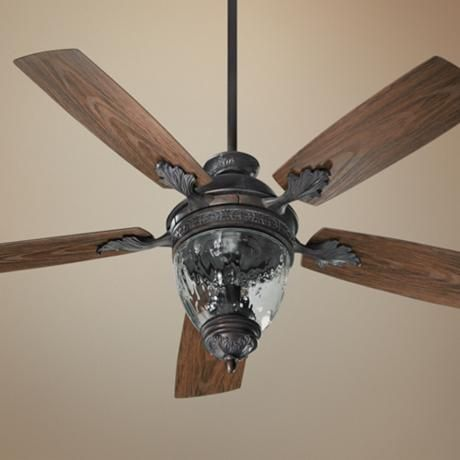 52 Quorum Georgia Sienna Patio Ceiling Fan With Light Kit