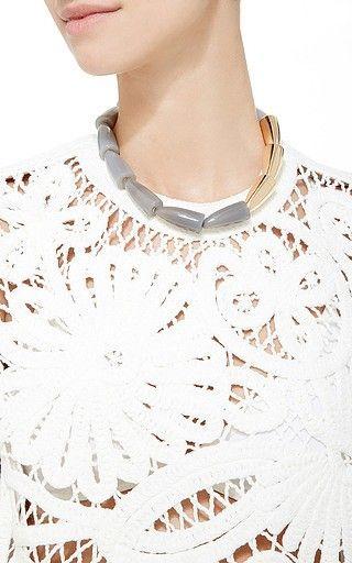 Vhernier - Calla Grey Agate Rose Gold Necklace on Moda Operandi http://www.guilhem-joaillier.com
