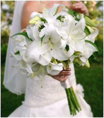 Bouquet Sposa Gigli.Bouquet Sposa Gigli Bouquet Da Sposa Bianco Matrimonio Rosa