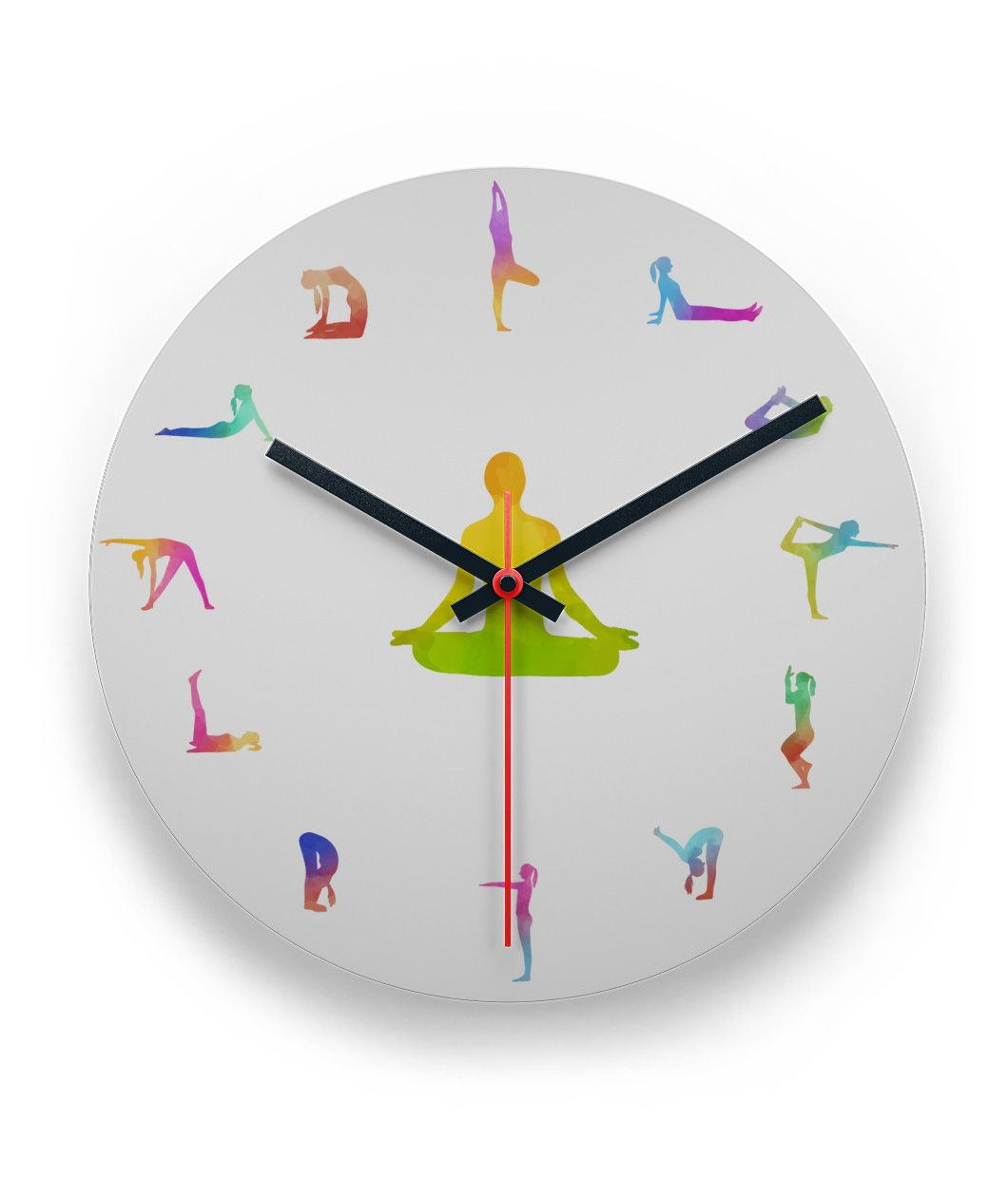 Rainbow yoga clock limited edition clocks and rainbows rainbow yoga clock gamestrikefo Gallery