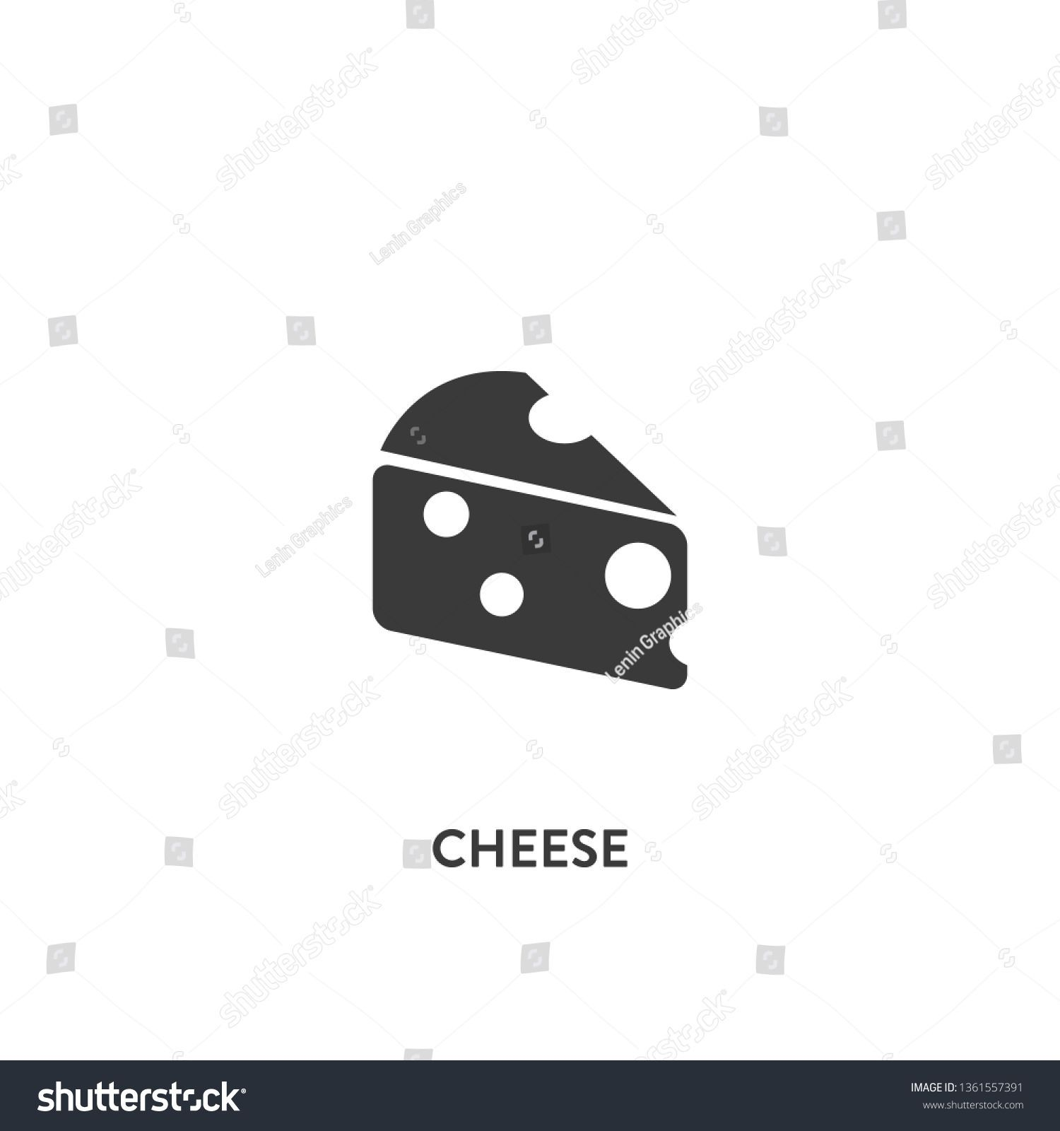 cheese icon vector. cheese sign on white background. cheese icon for web and app ,