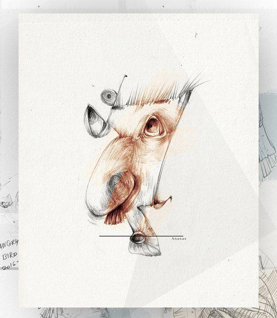 "47 Likes, 3 Comments - Eglė Uleckienė (@egleillustration) on Instagram: ""Daily Sketch Challenge*34-Anusas. #illustrationartists #illustration #sketch #sketch_daily…"""