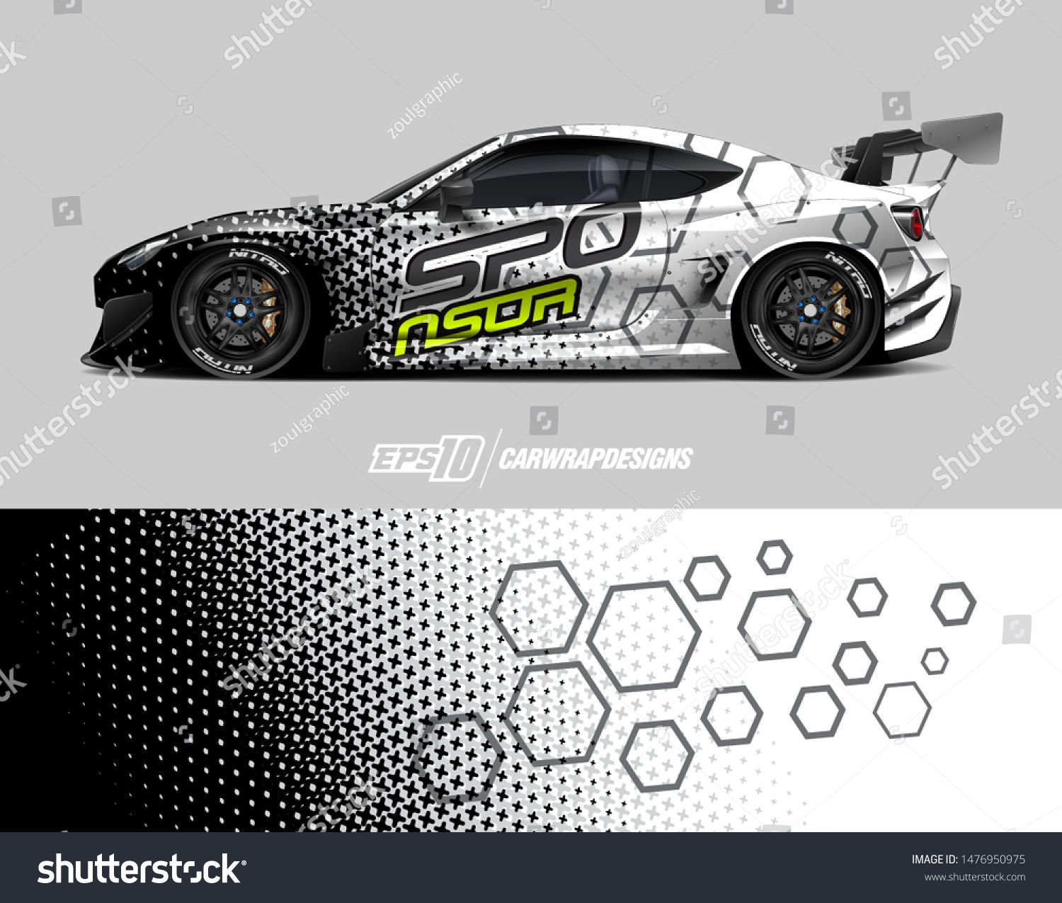 Car wrap decal design concept  Abstract grunge background