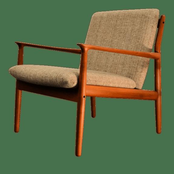 Vintage Grete Jalk Teak Lounge Chair Teak Lounge Chair Danish Modern Lounge Chair