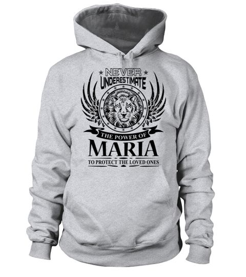 # MARIA NEVER UNDERESTIMATE .  MARIA NEVER UNDERESTIMATE  A GIFT FOR THE SPECIAL PERSON  It's a unique tshirt, with a special name!   HOW TO ORDER:  1. Select the style and color you want:  2. Click Reserve it now  3. Select size and quantity  4. Enter shipping and billing information  5. Done! Simple as that!  TIPS: Buy 2 or more to save shipping cost!   This is printable if you purchase only one piece. so dont worry, you will get yours.   Guaranteed safe and secure checkout via:  Paypal…