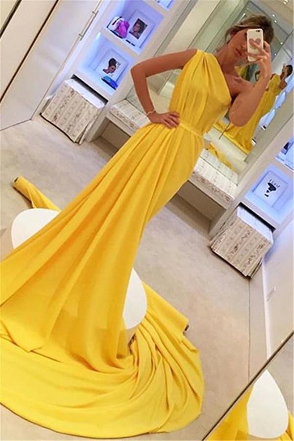 Elegante Abendkleider Lang Chiffon   Etuikleider Günstig ...
