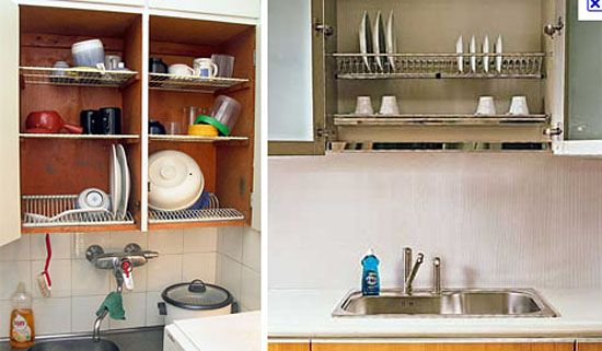 Smart Kitchen Space Saver Dish Drying Closet Above The Sink