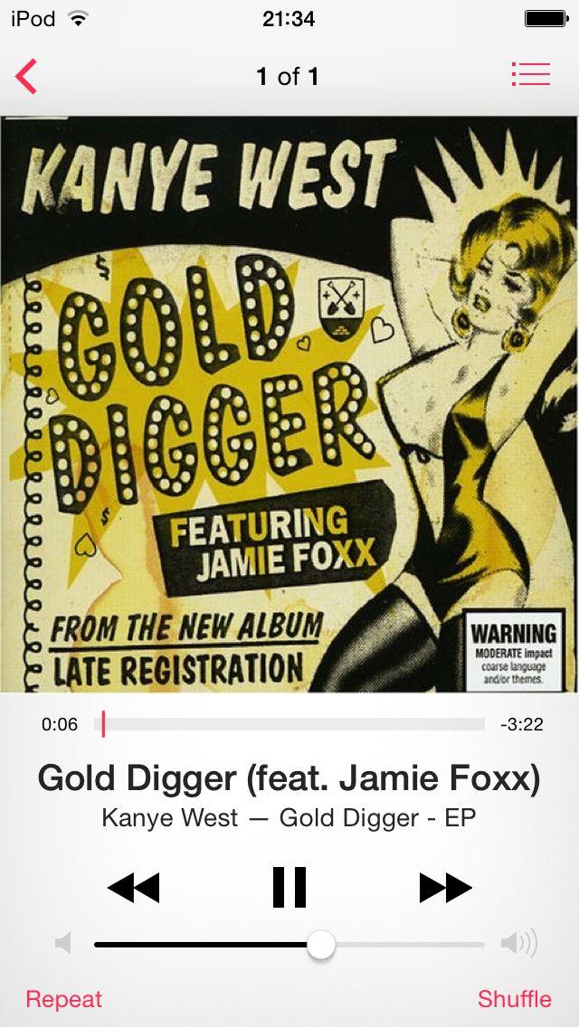 Kanye West Gold Digger Feat Jamie Foxx Kanye West Gold Digger Gold Digger Kanye West