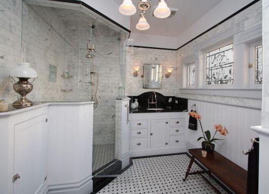 This victorian bathroom design features a large custom - Bathroom vanities san francisco area ...