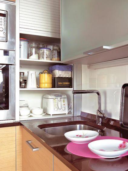 Dise o de cocinas con mueble persiana cocina pinterest dise o de cocina persianas y cocinas - Persianas para muebles ...