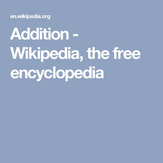 Addition - Wikipedia, the free encyclopedia