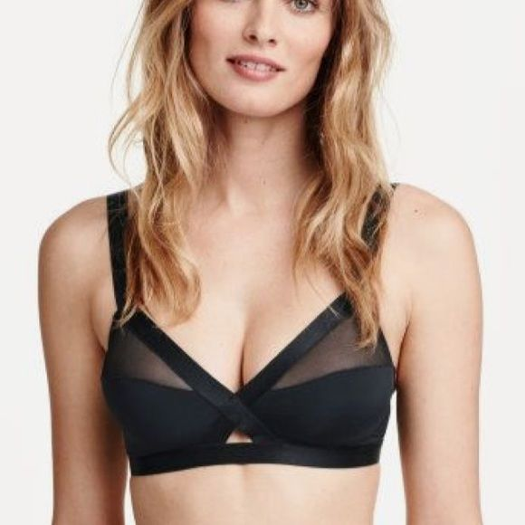 f907e23fdd0f9 H M Bralette Awesome top! Has mesh and a cutout at the bottom! PRICE IS  FIRM! ❌Trades❌PayPal❌Holds H M Intimates   Sleepwear Bras