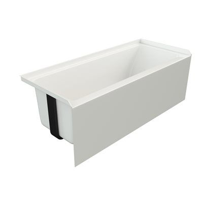 Mirolin White Acrylic Rectangular Skirted Bathtub With Left Hand Drain  (Common: 60