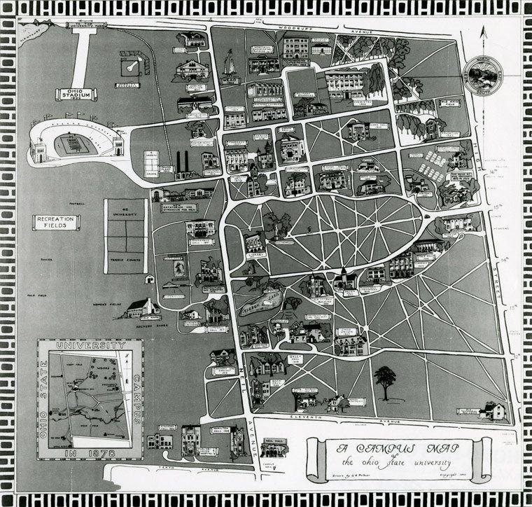 1930 Campus Map Campus Map Ohio State University Campus Photo