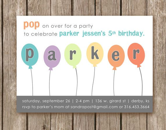 Balloon birthday party invitation perfect by pinkcreativeinvites balloon birthday party invitation perfect by pinkcreativeinvites 500 filmwisefo
