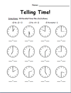 Telling time assessment   Classroom activities   First grade ...