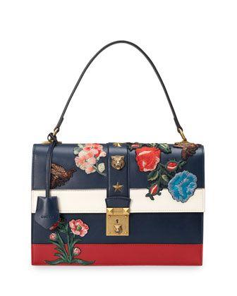 d4c9b9be336dc Embroidered+Riche+Stripe+Shoulder+Bag