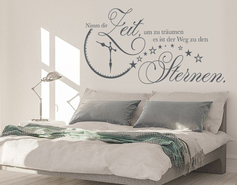 wandtattoo nimm dir zeit wand tattoo wand and decoration. Black Bedroom Furniture Sets. Home Design Ideas