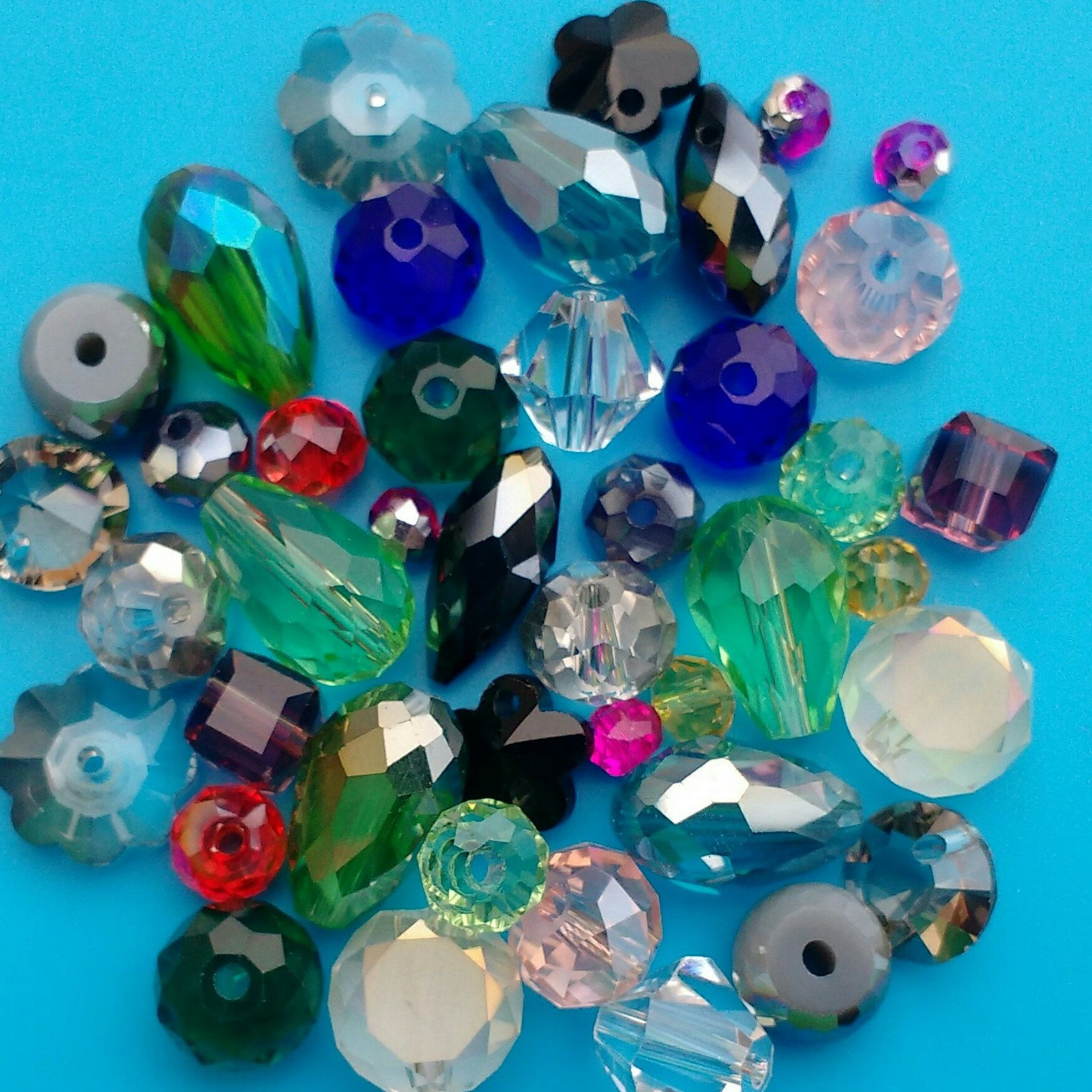 bicone of pcs saucer crystal round jewellery great assortment please these mixed teardrop austrian beads pin lots