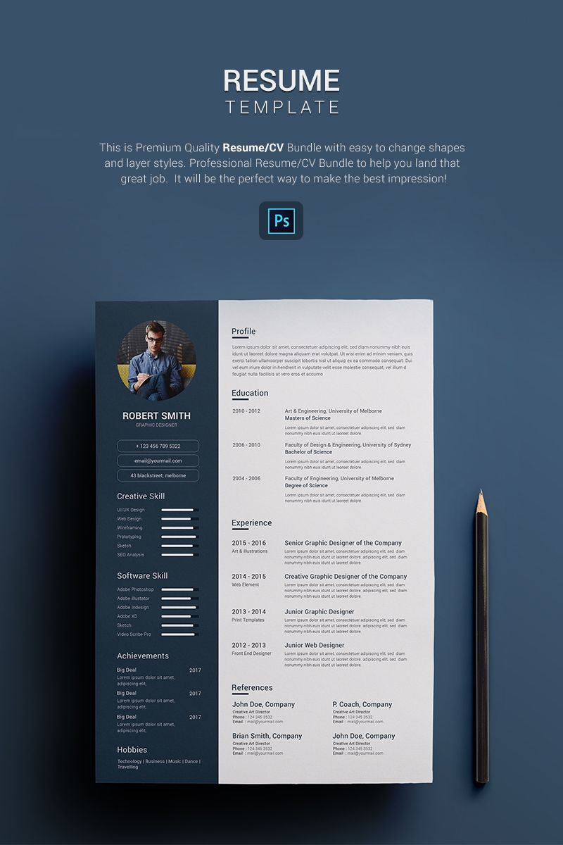 Robert Smith Graphic Designer Resume Template 67689 Graphic