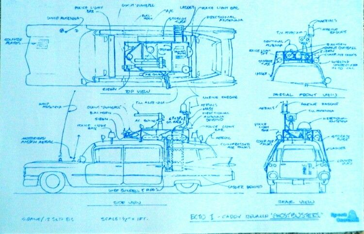 Ghost busters car blueprint cars pinterest ghost busters and cars wonderful 11 x 17 blueprint of the ghostbusters caddy made the old fashioned way with ammonia activated paper on a diazit blueprint malvernweather Gallery