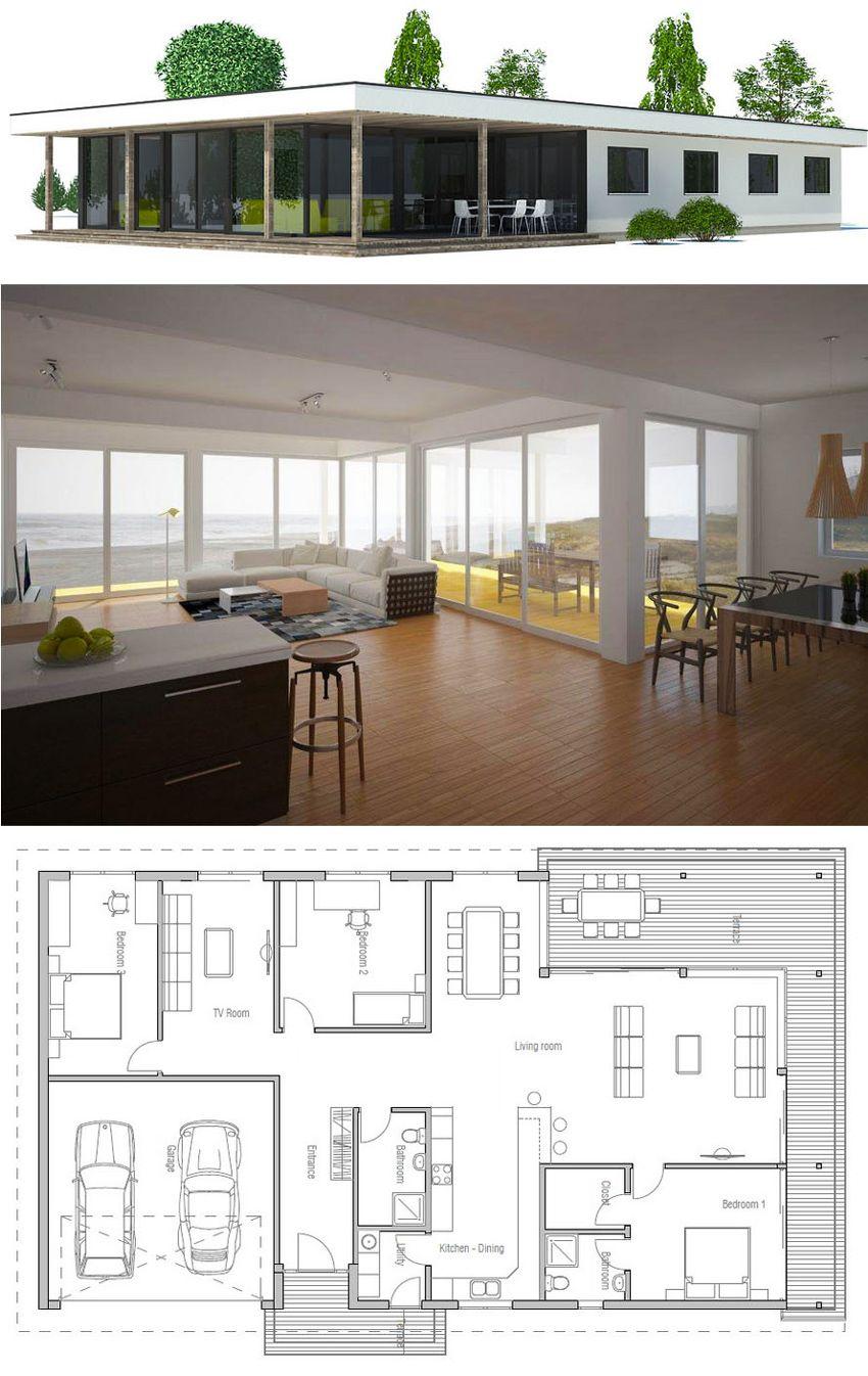 Modern Minimalist House Plan L A N D S C A P E D E S I G N In 2018