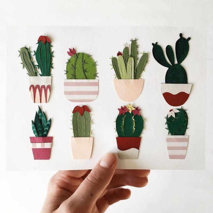 Paper Craft Cacti, die in Ihre Handfläche passt Paper Craft Cacti, die in Ihre Handfläche passt,