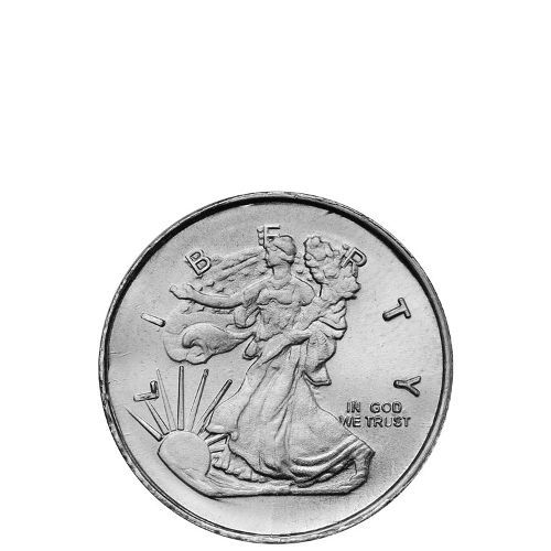 1 4 Oz Hm Walking Liberty Silver Round New Silver Rounds Silver Round