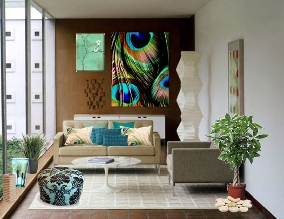 Totally In Love Withpainting PEACOCK HOME DECOR IDEAS | Aesthetically  Beautiful Peacock Home Décor Ideas | Decozilla