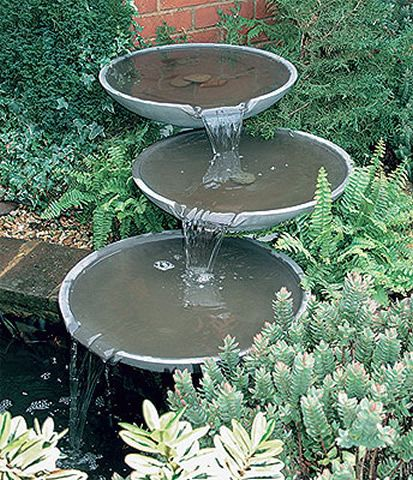 Aqua Spill 3 Bowl Outdoor Water Fountain Patio Garden Water Fountains Water Features In The Garden Water Fountains Outdoor Garden Water Fountains