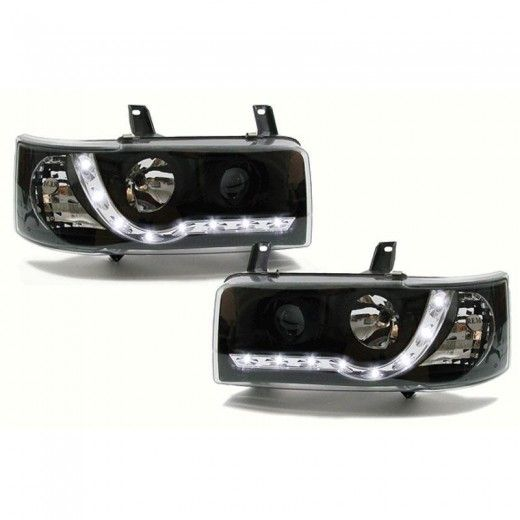 Buy T4 Angel Eyes Drl S Free Uk Shipping Projector Headlights Vw T4 Vw Bus