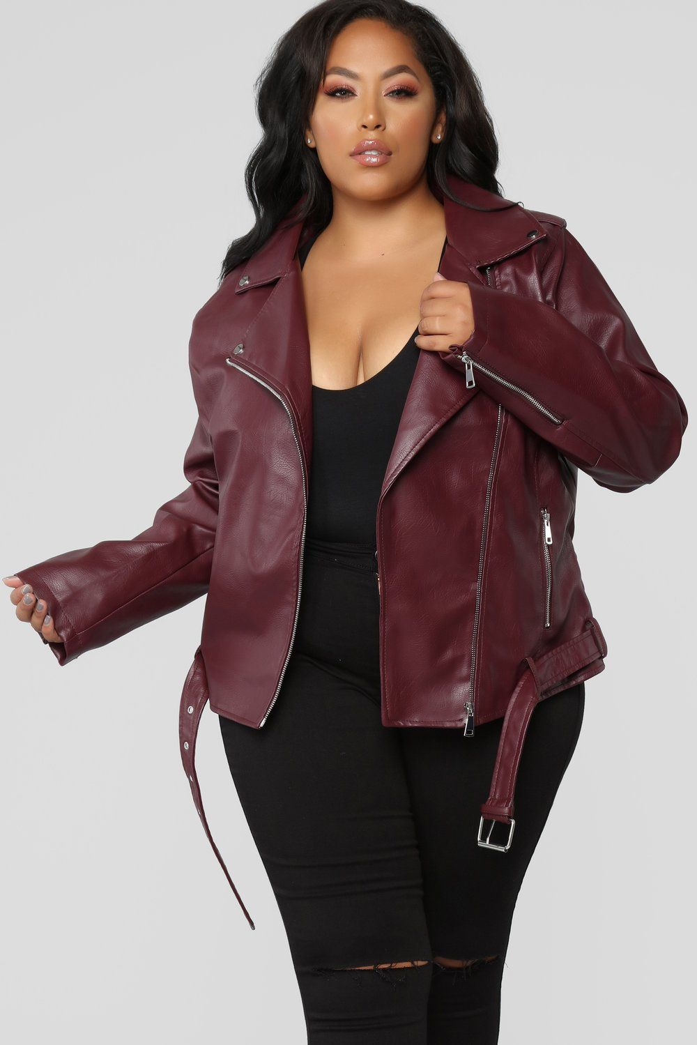 autumn shoes how to get search for original Araxie Vegan Leather Jacket - Wine | The Roommate in 2019 ...