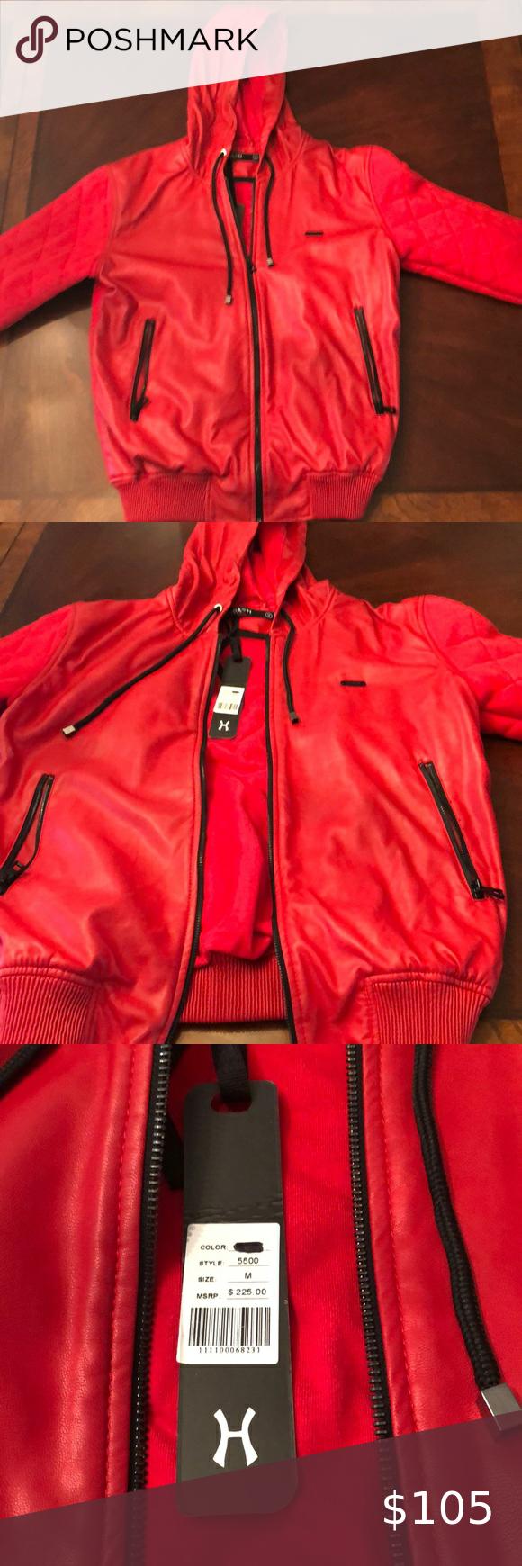 Hudson Outerwear Red Cotton Polyurethane Jacket Jackets Outerwear Outerwear Jackets [ 1740 x 580 Pixel ]