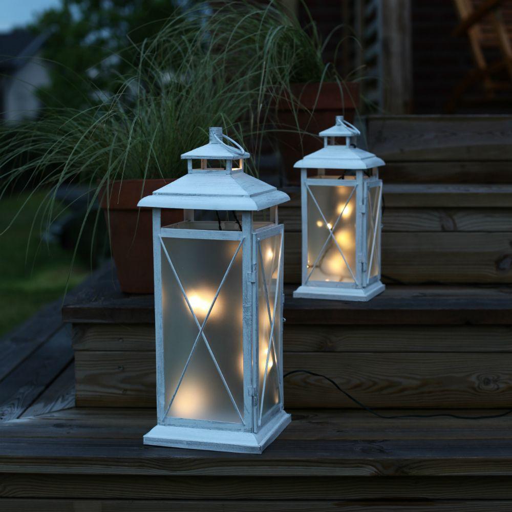 stallis lanterne led 45 ext rieur blanc luminaire d 39 ext rieur xmas living glass design par. Black Bedroom Furniture Sets. Home Design Ideas