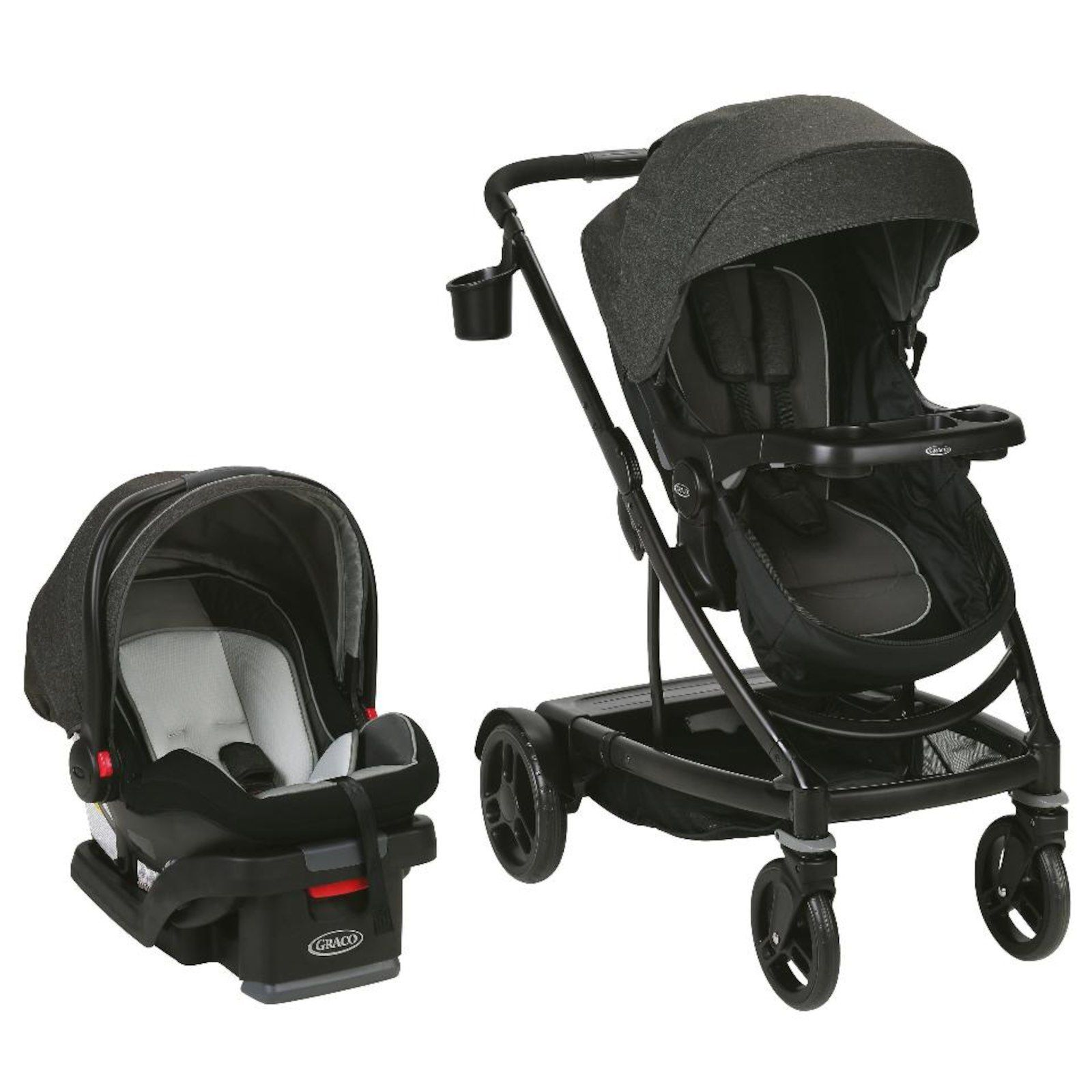 The Uno2Duo Travel System starts out as a single Stroller