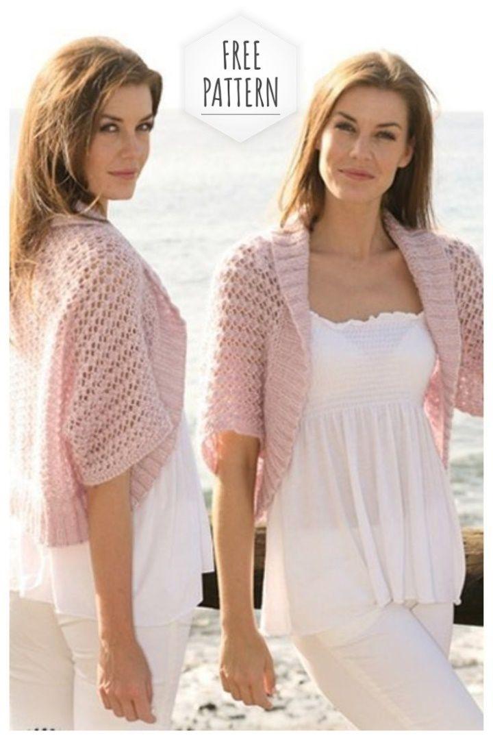 Photo of Summer openwork bolero free pattern #women #womenfashion #summerdress #crochetdr…