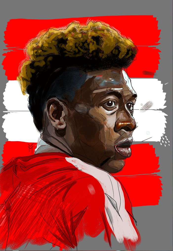 David Alaba by Mathew Vieira. Digital illustration.