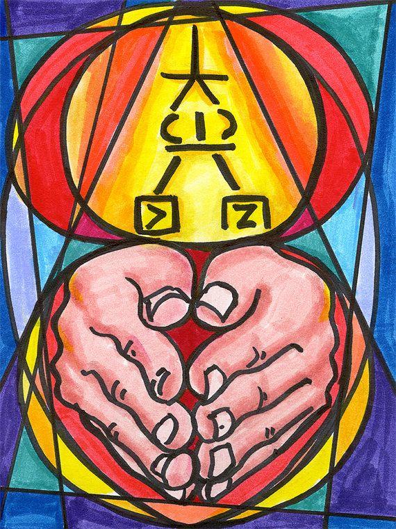 11x14 Usui Master Symbol Dai Ko Myo Reiki Healing By Keytoreiki