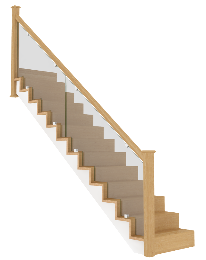 Beautiful Oak And Glass Staircase Bespoke Staircases Staircase Manufacturers