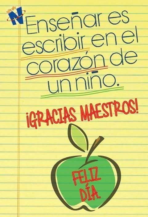 Enseñar es escribir en el corazón de un niño | Maestro | Pinterest ...