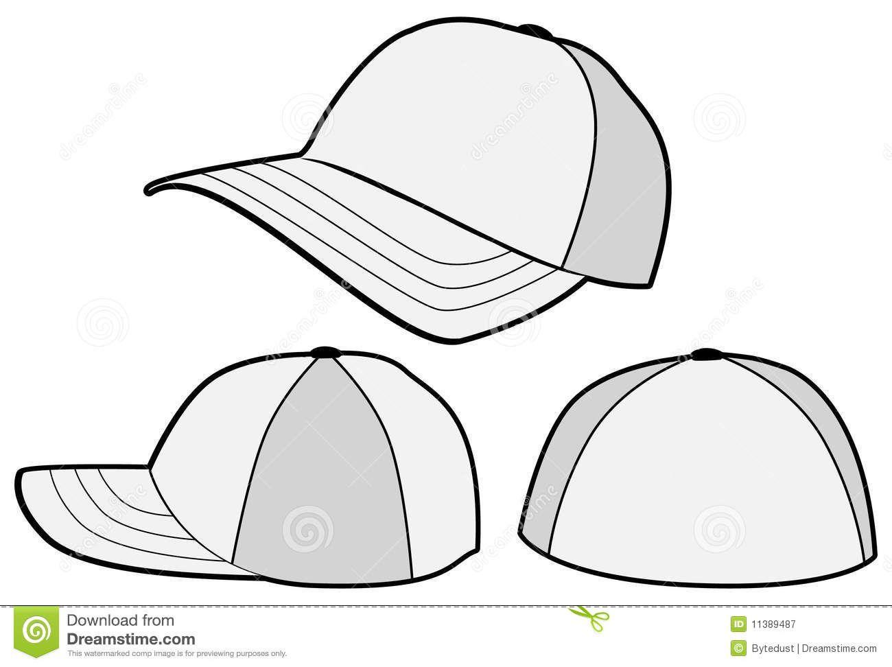 Baseball Hat Cap Vector Template 11389487 Jpg 1300 972 Baseball Hats Baby Quilts Cap